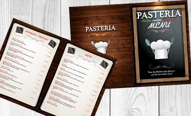 Дизайн меню для кафе, баров, ресторанов