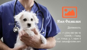 Ветеринарного Врача Визитка